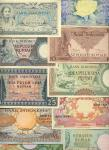 x A Colourful Selection of mid-20thC. Indonesian notes, comprising 5 Rupiah (6), 10 Rupiah (8), 25 R