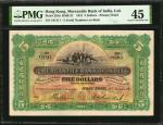 1941年香港有利银行伍圆。HONG KONG. Mercantile Bank of India Limited. 5 Dollars, 1941. P-235d. PMG Choice Extre