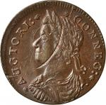 1787 Connecticut copper. Miller 37.3-i, W-4110. Rarity-3. Draped Bust Left. MS-61 BN (PCGS).