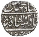 MUGHAL: Shah Jahan III, 1759-1760, AR rupee 4010。93g41, Hasanabad, AH1174 year one 40ahad41, KM-475。