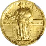 2016-W 100th Anniversary Standing Liberty Quarter. Gold. Early Releases. Hermon A. MacNeil Facsimile