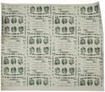 Uncut Sheet of Thirty-Two Giori
