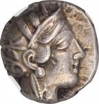 ATTICA. Athens. AR Tetradrachm (17.03 gms), ca. 440-404 B.C.NGC Ch VF, Strike: 4/5 Surface: 3/5.