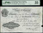 Bank of England, Kenneth Oswald Peppiatt (1934-1949), 100, Leeds, 29 June 1938, serial number Y/09 0