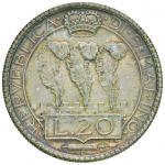 Italian coins;SAN MARINO 20 Lire 1935 - Gig. 5 AG (g 14.98) - SPL/qFDC;70