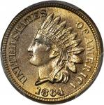 1864 Indian Cent. Copper Nickel. MS-65 (PCGS). CAC.