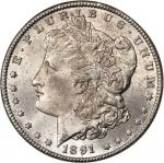 1891-CC Morgan Silver Dollar. MS-64 (NGC).