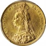 AUSTRALIA. Sovereign, 1889-M. Melbourne Mint. Victoria. PCGS MS-62.