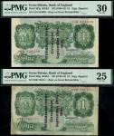 States of Guernsey overprints, Kenneth Oswald Peppiatt, 1 (2), 18 September 1941, serial number 16O