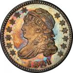 1821 Capped Bust Dime. John Reich-6. Rarity-2. Large Date. Mint State-64+ (PCGS).