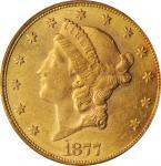 1877 Liberty Head Double Eagle. AU-58 (PCGS).