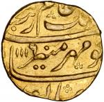 INDIA. Mughal Empire. Mohur, AH1116//4 (1704). Ahmodnagar Mint.