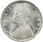 Lot 2632 BRITISH INDIA: Victoria, Queen, 1837-1876, AR frac12 rupee, 186240bm41, KM-472, SW-4.123, 4