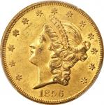 1856 Liberty Head Double Eagle. AU-58 (PCGS). CAC.