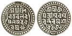 Jaintiapur, Jaynarayan (1708-31), Tanka, 10.00g, Sk. 1630, as previous lot, elongated beads either s
