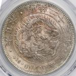 日本 (Japan) 新1円銀貨(小型) 明治23年(1890年) JNDA-近10A / New type 1 Yen Silver Small size JNDA01-10A