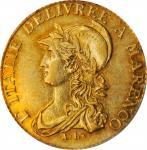 ITALY. Piedmont-Subalpine Republic. 20 Francs, lAN 10 (1801). Turin Mint. Napoleon. PCGS AU-55.