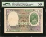 INDIA. British Administration. 100 Rupees, ND (1917-30). P-10c. PMG About Uncirculated 50.