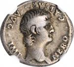 NERO, A.D. 54-68. AR Denarius (3.38 gms), Rome Mint, A.D. 61/2. NGC Ch F, Strike: 5/5 Surface: 2/5.