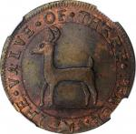 """1737"" (ca. 1860s) Higley Copper by J.A. Bolen. Copper. Musante JAB-10, Kenney-4, W-14270. MS-63RB ("