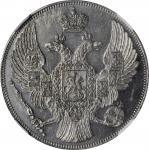 RUSSIA. Platinum 12 Rubles, 1832-CNB. St. Petersburg Mint. Nicholas I. NGC Unc Details--Obverse Graf