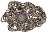 1866年香港壹圆,连银链,长170cm,有包浆,GVF,少见