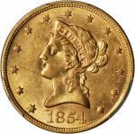 1854 Liberty Head Eagle. AU-58 (PCGS).