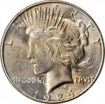 1924-S Peace Silver Dollar. MS-63 (PCGS). OGH.