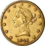 1843 Liberty Head Eagle. EF-40 (PCGS).