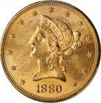 1880-S Liberty Head Eagle. MS-62+ (PCGS).