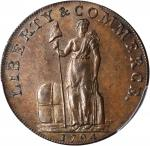 1794 Talbot, Allum & Lee Cent / Promissory Halfpenny Mule. Fuld Mule-2, W-8670. Rarity-4. Copper. LI
