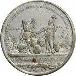 1783 Treaty of Paris Medal. White Metal, with Copper Plug. 43 mm. Betts-610, Eimer-804, BHM-255, Van