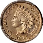 1864 Indian Cent. Copper-Nickel. MS-65 (PCGS).