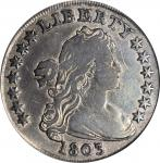 1803 Draped Bust Silver Dollar. BB-255, B-6. Rarity-2. Large 3. VF Details--Environmental Damage (PC