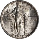 1917-D Standing Liberty Quarter. Type II. MS-65 (PCGS).