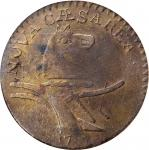 1787 New Jersey Copper. Maris 6-D, W-5050. Rarity-2. Double Coulter. VF-30 (PCGS).