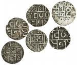 Cooch Behar, Prana Narayan (1633-65), Half-Tanka, 4.95g, Rupa Narayan (1695-1715), Half-Rupee, 4.28g