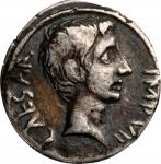 AUGUSTUS, 27 B.C.- A.D. 14. AR Quinarius (1.68 gms), Uncertain mint in Italy, or possibly Ephesus, 2