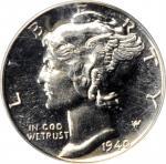 1940 Mercury Dime. Proof-65 (PCGS).