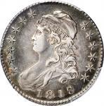 1818/7 Capped Bust Half Dollar. Large 8. EF Details--Cleaned (PCGS).