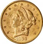 1868-S Liberty Head Double Eagle. MS-60 (PCGS).