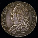 GREAT BRITAIN George II ジョージ2世(1727~60) Crown 1743 返品不可 要下见 Sold as is No returns EF