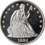 1884 Liberty Seated Half Dollar. Proof-65 Cameo (PCGS). CAC.