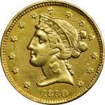 1860 Clark, Gruber & Co. $5. K-2. Rarity-4. EF Details--Harshly Cleaned (PCGS).