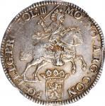 1673年荷兰1杜卡顿银币。 NETHERLANDS. Holland. Ducaton, 1673. NGC AU-55.