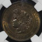 FRANCE 3rd Rep 第三共和政(1870~1940) 10Centimes 1898A  NGC-MS64BN トーン UNC