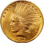 1912 Indian Eagle. MS-64+ (PCGS).