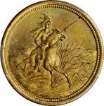Kansas-Leavenworth. Undated (ca. 1866-1869). Edwin H. Durfee. One Dollar in Merchandise. Brass. 28 m