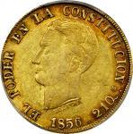ECUADOR. 1856-GJ 8 Escudos. Quito mint. KM-34.2. EF-45 (PCGS).