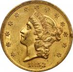 1853 Liberty Head Double Eagle. AU-58 (PCGS). CAC.